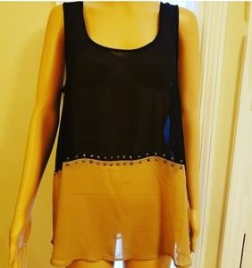 STUDDED TANK TOP BY CHARMING CHARLIE ~SIZE LARGE